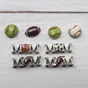 8 Origami Owl Sports Charms Mom Football Soccer